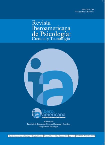 Revista Iberoamericana de Psicología Vol. 8 # 2